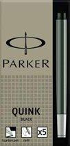 Parker inktpatronen Quink zwart