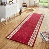 Design loper Floret - rood 80x400 cm