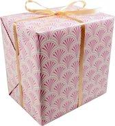 LOVLY® Cadeaupapier, 50cm, 200m, 80gr/m², Wave, 693, roze