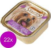 Mister Stuzzy Dog Paté 150 g - Hondenvoer - 22 x Ham