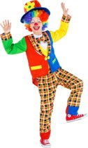 dressforfun 300801 Kinder-/Tienerkostuum Clown Sokkenschot voor kinderen 116 (5-6 jaar) verkleedkleding kostuum halloween verkleden feestkleding carnavalskleding carnaval feestkledij partykleding