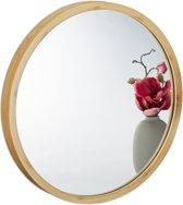 relaxdays spiegel rond - wandspiegel - badkamerspiegel - toiletspiegel - bamboe