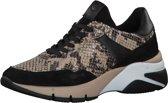 Tamaris Dames Sneaker - Beige zwart - Maat 40