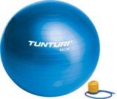 Tunturi  Fitnessbal - Gymball - Swiss ball - Ø 55 cm - Inclusief pomp - Blauw