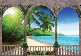 Fotobehang Beach Tropical | XXXL - 416cm x 254cm | 130g/m2 Vlies