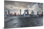 Grijze wolken boven Beijing Aluminium 90x60 cm - Foto print op Aluminium (metaal wanddecoratie)