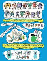 Homework Pages for Kindergarten (Cut and Paste Monster Factory - Volume 3