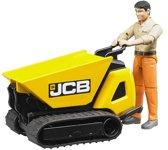BRUDER® Dumpster JCB HTD-5 met bouwvakker