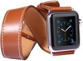 Kakapi Leren bandje - Apple Watch Series 1/2/3/4 (38&40mm) - Bruin