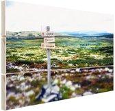 Wandelsteken in de natuur Hout 120x80 cm - Foto print op Hout (Wanddecoratie)