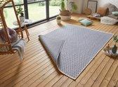 Design binnen & buiten vloerkleed Ivy - blauw/crème 160x230 cm
