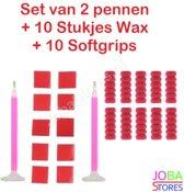 "Diamond Painting ""JobaStores®"" Pennen Breed + Wax + Softgrips"