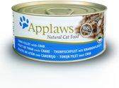 Applaws cat blik adult tuna / crab kattenvoer 70 gr