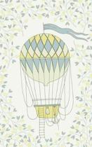 Lemon Hot Air Balloon & Basket - Lined Notebook with Margins - 5x8