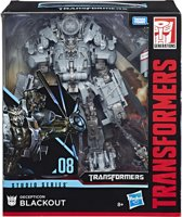 Transformers Generations Studio Series Leader Blackout - Actiefiguur