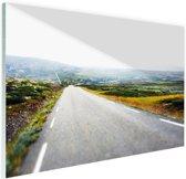 Uitzicht op een landweg Glas 30x20 cm - klein - Foto print op Glas (Plexiglas wanddecoratie)
