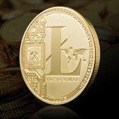 Goudkleurige Litecoin Souvenir Munt Crypto