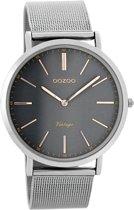 OOZOO Vintage C7393 - Horloge - Staal - Zilverkleurig - 40 mm