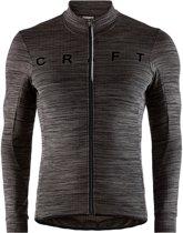 Craft Reel Thermal Longsleeve  Fietsshirt - Maat L  - Mannen - zwart/donker grijs