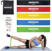 Panathletic 5 Weerstandsbanden Set - met Handleiding en eBook in het Nederlands - Mini power body band - Weerstandband fitness elastiek fitnessband