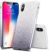 ESR iPhone 7 Plus hoes zilver naar zwarte glitters chique design zacht TPU