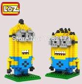 Mini-Minions Kevin en Dave in 1 verpakking  LOZ, DIamond Blocks