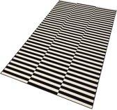 Moderne loper Panel - zwart/crème 80x300 cm