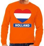 Oranje Holland hart vlag sweater heren XL