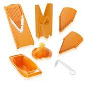 Börner Mandoline V3 Special| 7-delige set | 5 snijdiktes | Geschikt als Frietsnijder | BPA-vrij en Roestvrij | Oranje