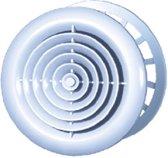 Plieger Kunststof Ventilatierooster met Gaas/Klemring - ø 125 mm - Wit