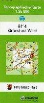 Grünstadt West 1 : 25 000