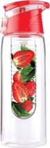 Waterfles met Fruit Filter | Rood 800 ml