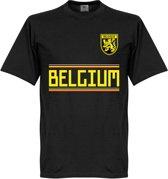 Belgie Team T-Shirt - Zwart  - L