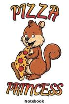 Pizza Princess Notebook: 120 Pages Dot Grid 6'x9' - Cool Pizza Squirrel Journal for female Pizza Lovers and Pizza Fans. Birthday Gift Idea or C