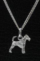 Zilveren Irish terrier ketting hanger - klein