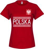 Polen Dames Team T-Shirt - Rood - S