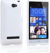 HTC Windows Phone 8S Silicone Case s-style hoesje Wit