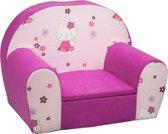 Luxe kinderstoel - kinderfauteuil - sofa - 60 x 45 - roze - hello kitty