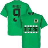 Nigeria Pattern Ighalo 9 T-Shirt - Groen - XL