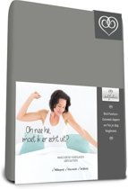 Bed-Fashion Mako Jersey hoeslakens de luxe 120 x 210 cm grijs