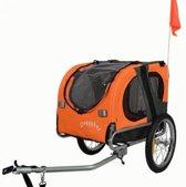 Topmast Hondenfietskar - Fietskar -Hondenaanhanger Medium  Oranje