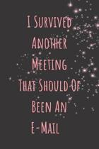 I Survived Another Meeting That Should of Been an E-mail