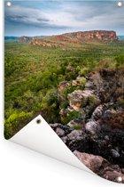 Uitzicht over het Nationaal park Kakadu in Australië Tuinposter 80x120 cm - Tuindoek / Buitencanvas / Schilderijen voor buiten (tuin decoratie)