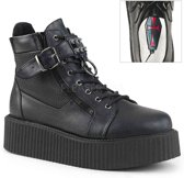 EU 38 = US 6 | V-CREEPER-566 | 2 PF Oxford Creeper Bootie, Inner & Outer Side Zip