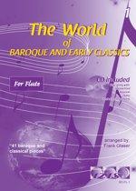 THE WORLD OF BAROQUE AND EARLY CLASSICS + meespeel-cd. Deel 1. Voor dwarsfluit. <br /><br /> Bladmuziek voor dwarsfluit, izis, bladmuziek voor fluit, play-along, bladmuziek met cd, muziekboek, klassiek, barok, Bach, Händel, Mozart.