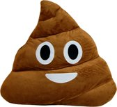 MikaMax - Emoji Poo - Emoji Kussen - Sierkussen - 35x35 cm - Bruin