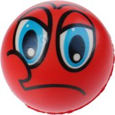 Toi-toys Bal Funy Face 8 Cm Rood