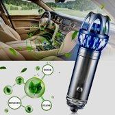 Auto ionisator 12v | Luchtreiniger | Ionische Luchtverfrisser tegen o.a. Sigaretten rook - Fijnstof - Pollen - Stank | Kleur Zilver