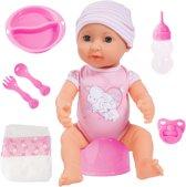 Afbeelding van Bayer Piccolina Newborn Baby 40cm - Babypop speelgoed