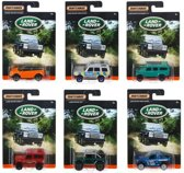 Matchbox Die-Cast Land Rover Auto Collection | 6 stuks blisterverpakking